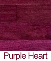 Wood floortypes for Purple heart flooring